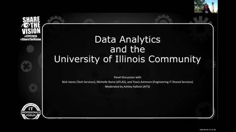 Thumbnail for entry 3A - Data Analytics and the University of Illinois Community - Ashley Hallock, Spring 2020 IT Pro Forum