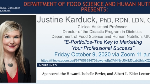 Thumbnail for entry FSHN 597 Fall 2020 Graduate Seminar- Dr. Justine Karduck- Oct. 9, 2020