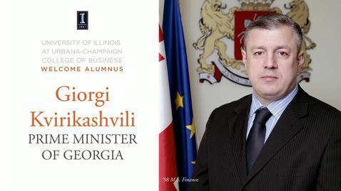 Thumbnail for entry April 27 2016 Eminent Speaker Series Giorgi Kvirikashvili Prime Minister of Georgia