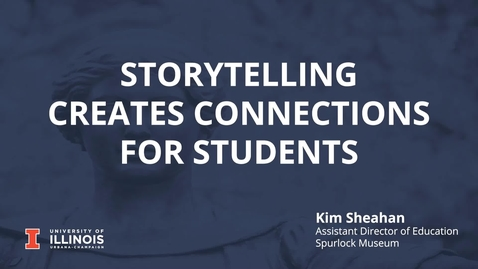 Thumbnail for entry Storytelling Creates Connections for Students