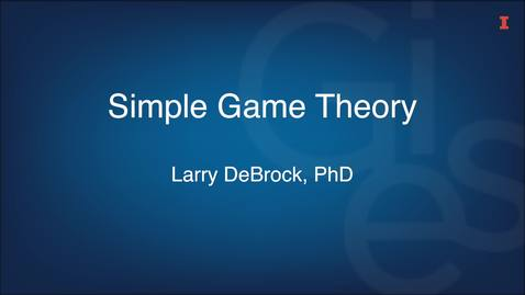 Thumbnail for entry Simple Game Theory