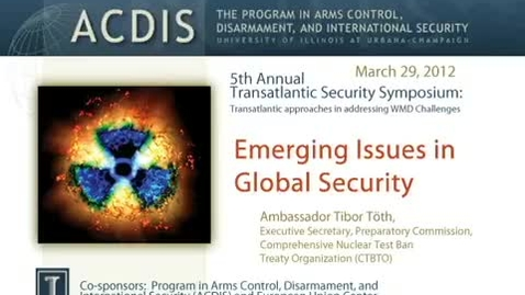 Thumbnail for entry Emerging Issues in Global Security