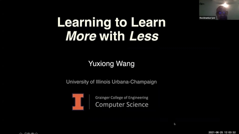 Thumbnail for entry AI Center Summer Seminar Series - Speaker: Yuxiong Wang, PhD, University of Illinois at Urbana-Champaign