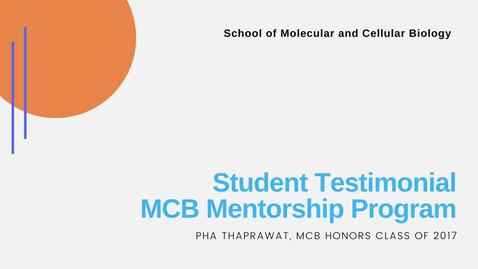 Thumbnail for entry Student Testimonial - Pha Thaprawat