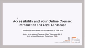 Thumbnail for entry Accessibility and Your Online Course: Introduction