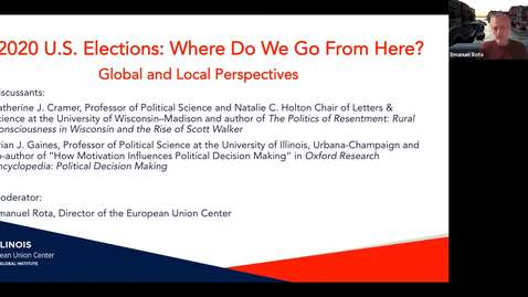 Thumbnail for entry 2020 U.S. Elections: Where Do We Go From Here? Global and Local Perspectives