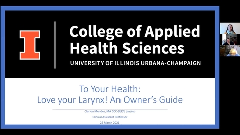 Thumbnail for entry To Your Health!: Love Your Larynx