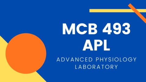 Thumbnail for entry MCB 493 APL: Advanced Physiology Laboratory