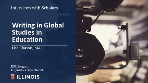 Thumbnail for entry Writing in Global Studies in Education (Interviews with Scholars series)
