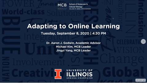 Thumbnail for entry Adapting to Online Learning Workshop - Fall 2020