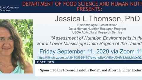 Thumbnail for entry FSHN 597 Fall 2020 Graduate Seminar Series- Dr. Jessica Thomson- Sept. 11, 2020