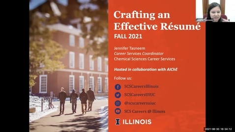 Thumbnail for entry SCS Crafting an Effective Résumé Workshop Fall 2021