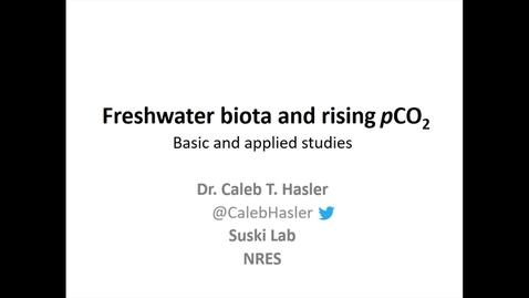 NRES 2016 Fall Seminar - Caleb Hasler