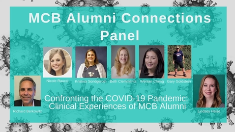 Thumbnail for entry MCB Alumni Connections Panel - Confronting the COVID-19 Pandemic