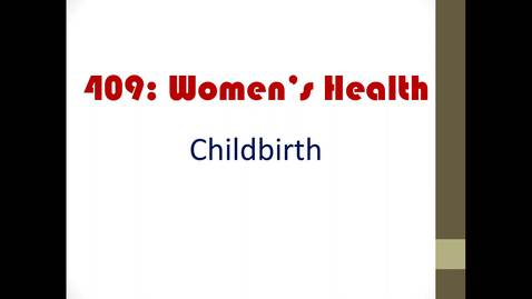 Thumbnail for entry childbirth