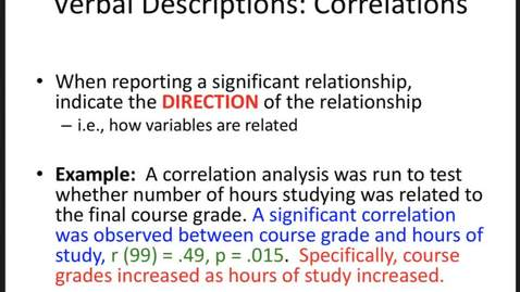 Thumbnail for entry Reporting and Visualizing Results: Practice with Verbal Descriptions