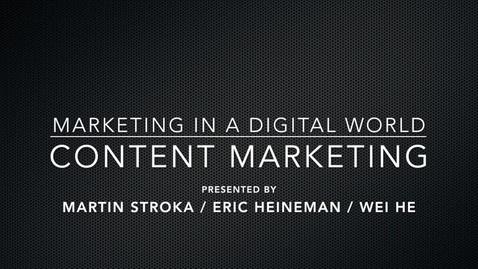 BADM 590 Marketing in a Digital World - Content Marketing