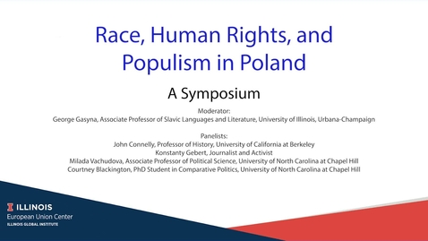 Thumbnail for entry Race, Human Rights, and Populism in Poland: A Symposium