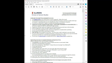 Thumbnail for entry How to Submit Assignments in GS 101