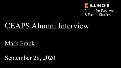 Thumbnail for entry Mark Frank - CEAPS Alumni Interview