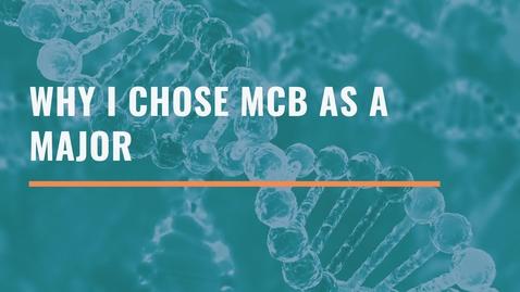 Thumbnail for entry Why I Chose MCB as my Major - Imadh Khan