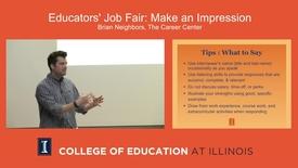 Thumbnail for entry Educators' Job Fair: Make an Impression