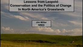 Thumbnail for entry NRES 2012 Fall Seminar Series - Jim Miller