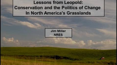 Thumbnail for entry NRES 2012 Fall Seminar Series - Jim Miller