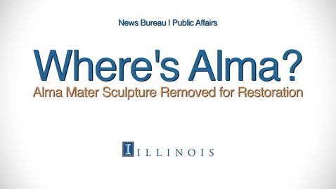 Thumbnail for entry Alma Mater Sculpture Removed for Restoration