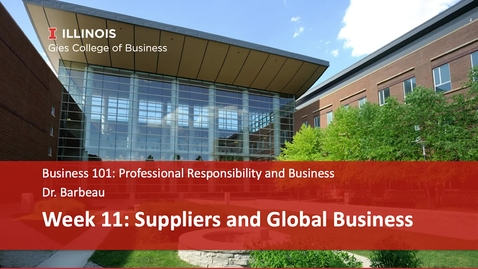 Thumbnail for entry Suppliers and Global Business