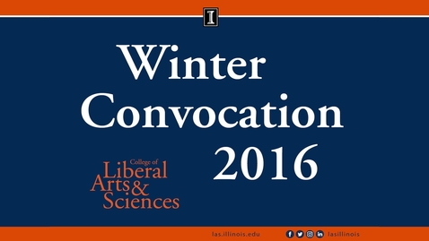 Thumbnail for entry LAS Winter Convocation Ceremony 2016