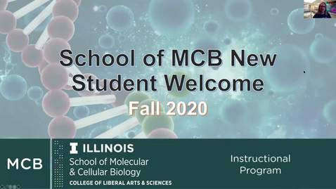 Thumbnail for entry MCB New Student Welcome Presentation - Fall 2020