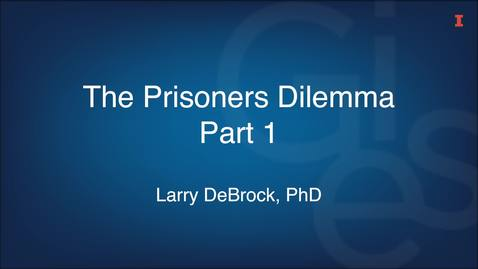 Thumbnail for entry The Prisoners Dilemma Part 1