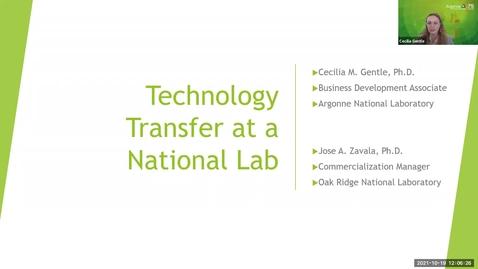 Thumbnail for entry Technology Transfer - National Labs Webinar