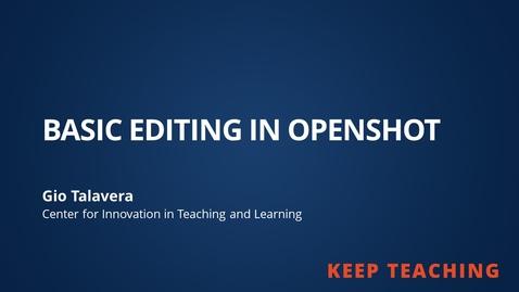 Thumbnail for entry OpenShot Tutorial Part 1