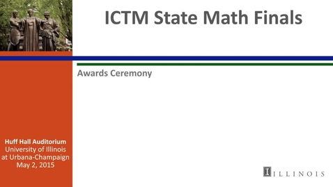 Thumbnail for entry ICTM State Math Finals - Awards Ceremony in Huff Hall Auditorium