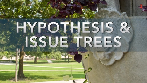 Thumbnail for entry Hypothesis and Issue Trees