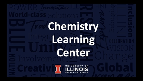 Thumbnail for entry Chemistry Learning Center F21
