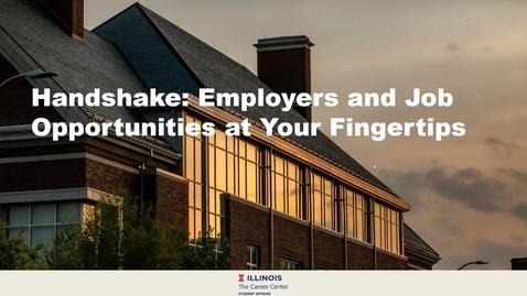 Thumbnail for entry Handshake @ Illinois