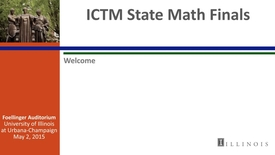 Thumbnail for entry ICTM State Math Finals - Welcome