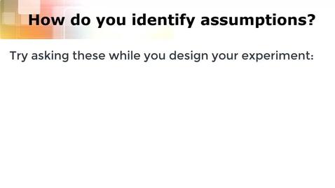 Thumbnail for entry Prelab 6: Assumptions