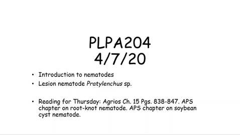 Thumbnail for entry PLPA204 lecture 4-7-20