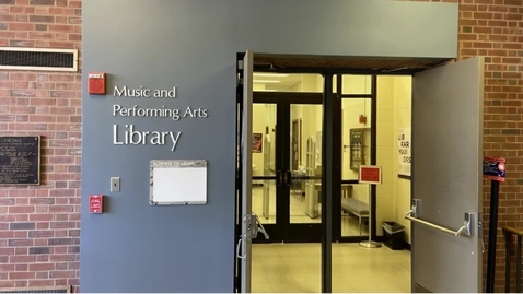 Thumbnail for entry Introduction to the Music & Performing Arts Library