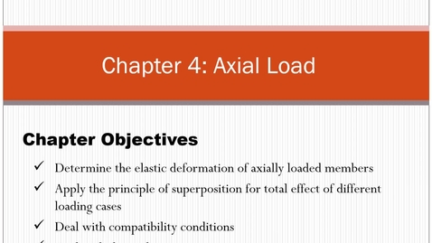 Thumbnail for entry Chapter 4: Axial Loadings - Asynchronous Lecture