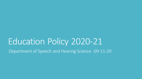 Thumbnail for entry Education Policy 09-11-20