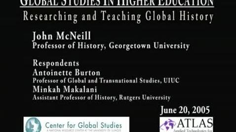 Thumbnail for entry Global Studies in Higher Education: Researching and Teaching Global History