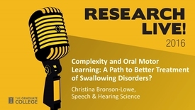 Thumbnail for entry Research Live 2016 - Christina Bronson-Lowe