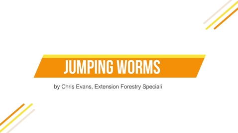 Thumbnail for entry Jumping Worms by Chris Evans, Extension Forestry Specialist
