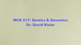 Thumbnail for entry MCB 317- Genetics and Genomics, Conversation with Dr. David Rivier