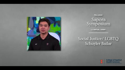 Thumbnail for entry Social Justice LGBTQ Schuylar Bailar